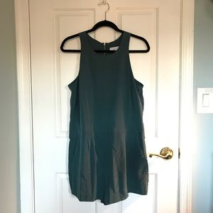 NWOT Lou & Grey Dark Green Romper